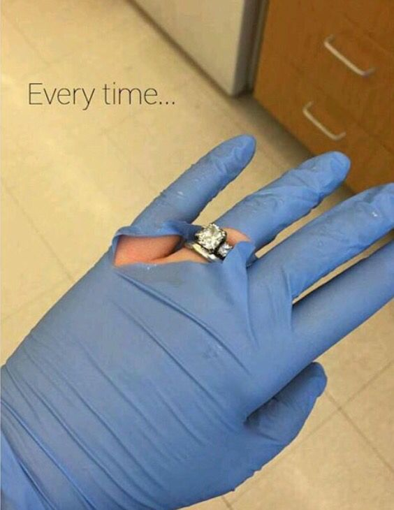 Rn Goals Nurse Marriage Engagement Ring Gloves