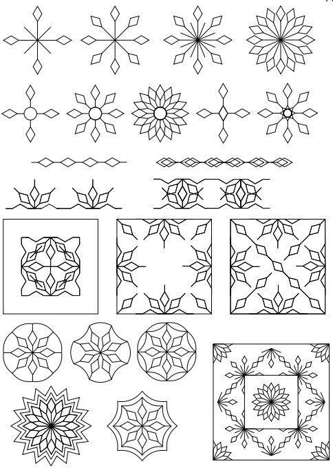 SpinEFex Snowflake Template Set  WwwSewsteadyCom  Quilting