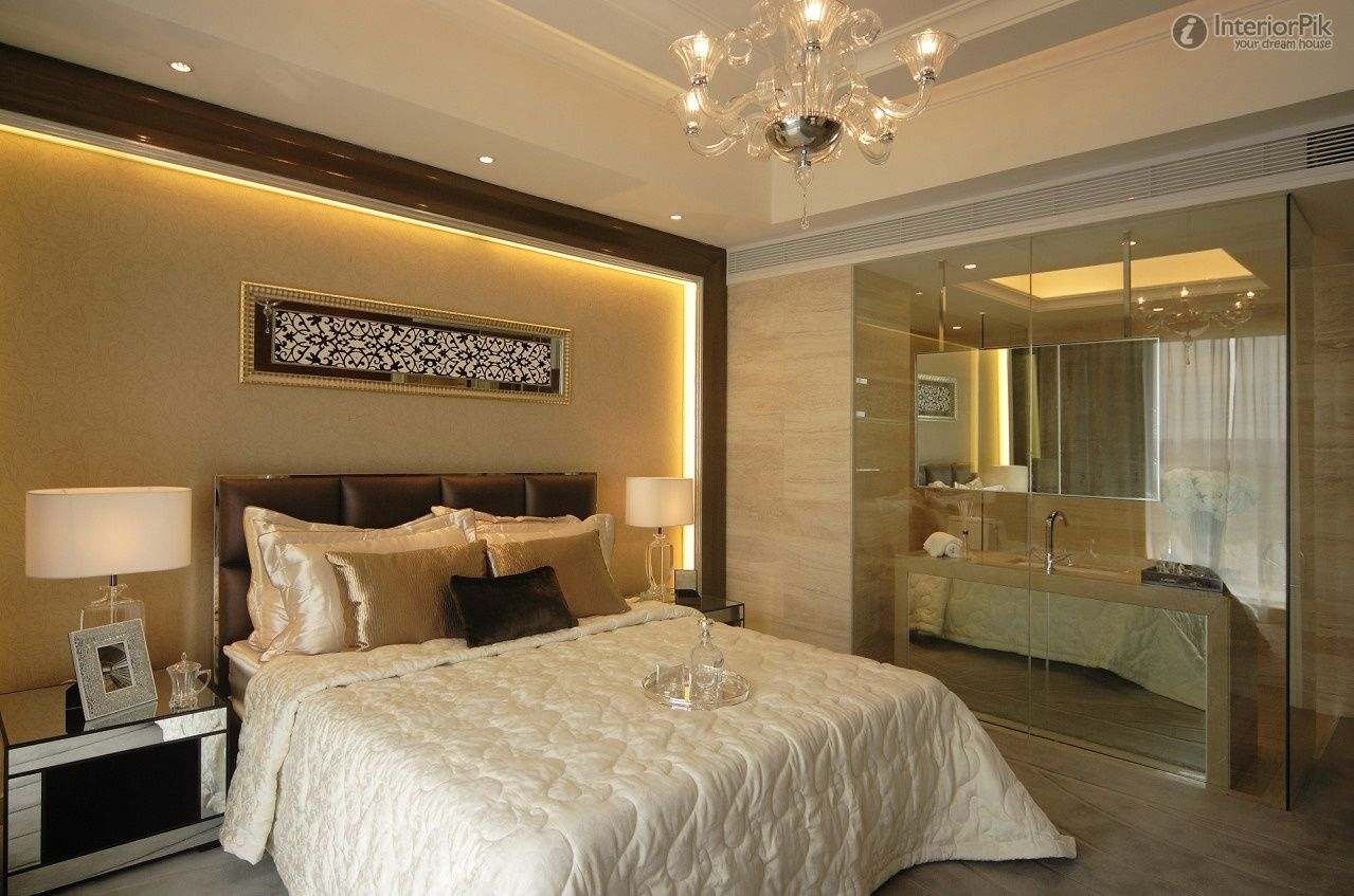 master bedroom with bathroom design - home design