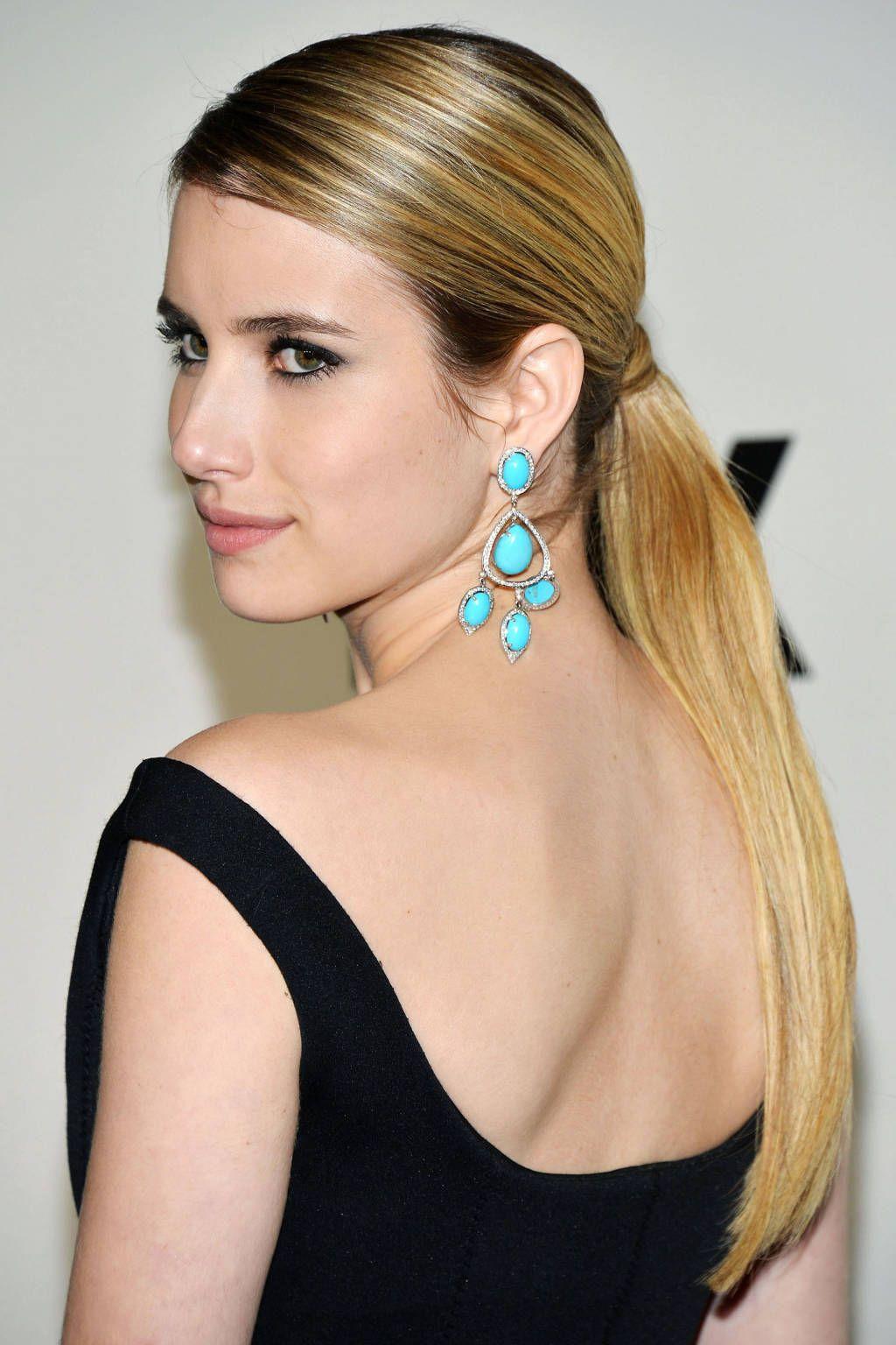 Emma roberts x long ponytail primping pinterest ponytail and