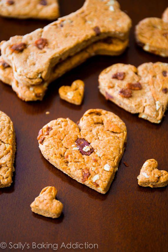 Homemade Peanut Butter Bacon Dog Treats easy 1 bowl Good
