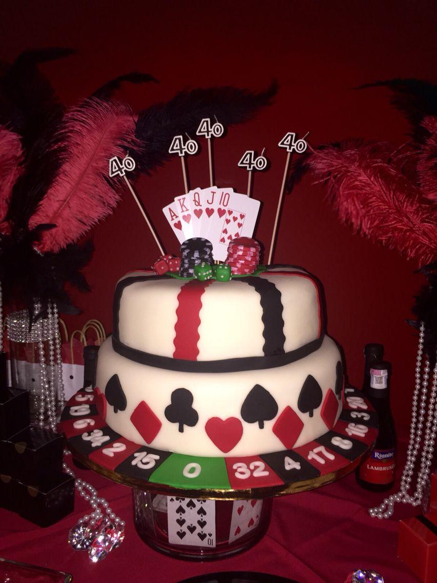 Casino cake festa