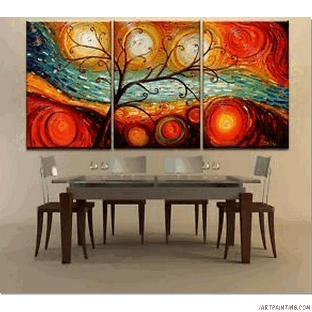 Modern art painting ideas abstract paintings 3pcs canvas for Abstract mural ideas