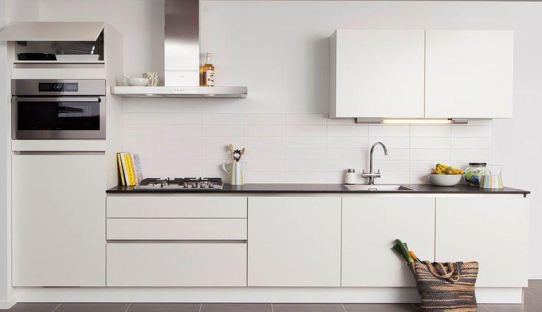 Steinhaus witte keuken met dun werkblad keuken