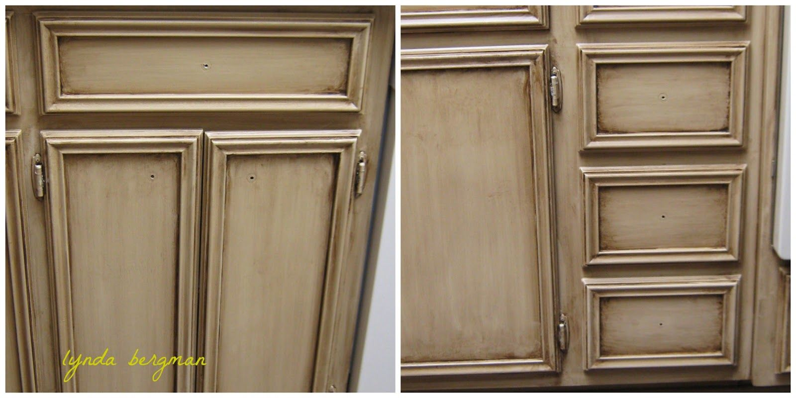 Antique Faux Finished Cabinets Painting A Special Aging Antiquing Finish On Old Kitchen Cabi Old Kitchen Cabinets Painting Oak Cabinets Antique White Kitchen