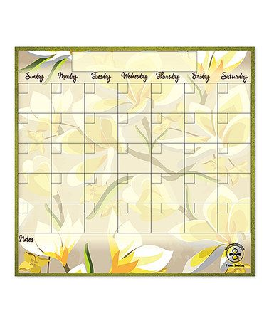 Another great find on #zulily! Malia Trim Dry-Erase Magnetic Monthly Calendar by busybeetime #zulilyfinds