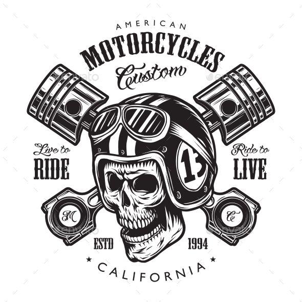 Vintage Motorcycle Logo Template #Motorcycle, #Vintage, #Template