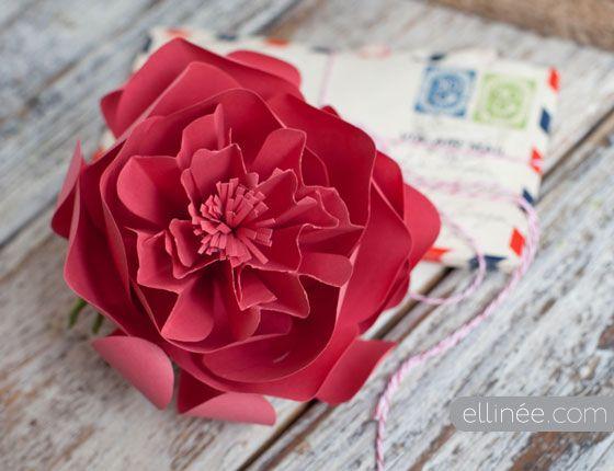Handmade paper peony flower