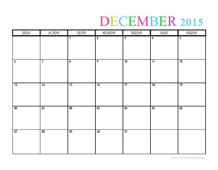 2015 Monthly Calendar Templates aDVENT CALeNDERS Pinterest