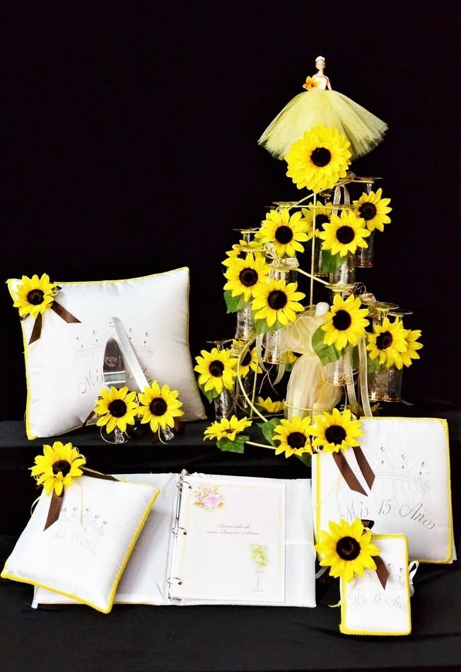 Sunflowers Accessories Quinceanera Package Toasting Set ...