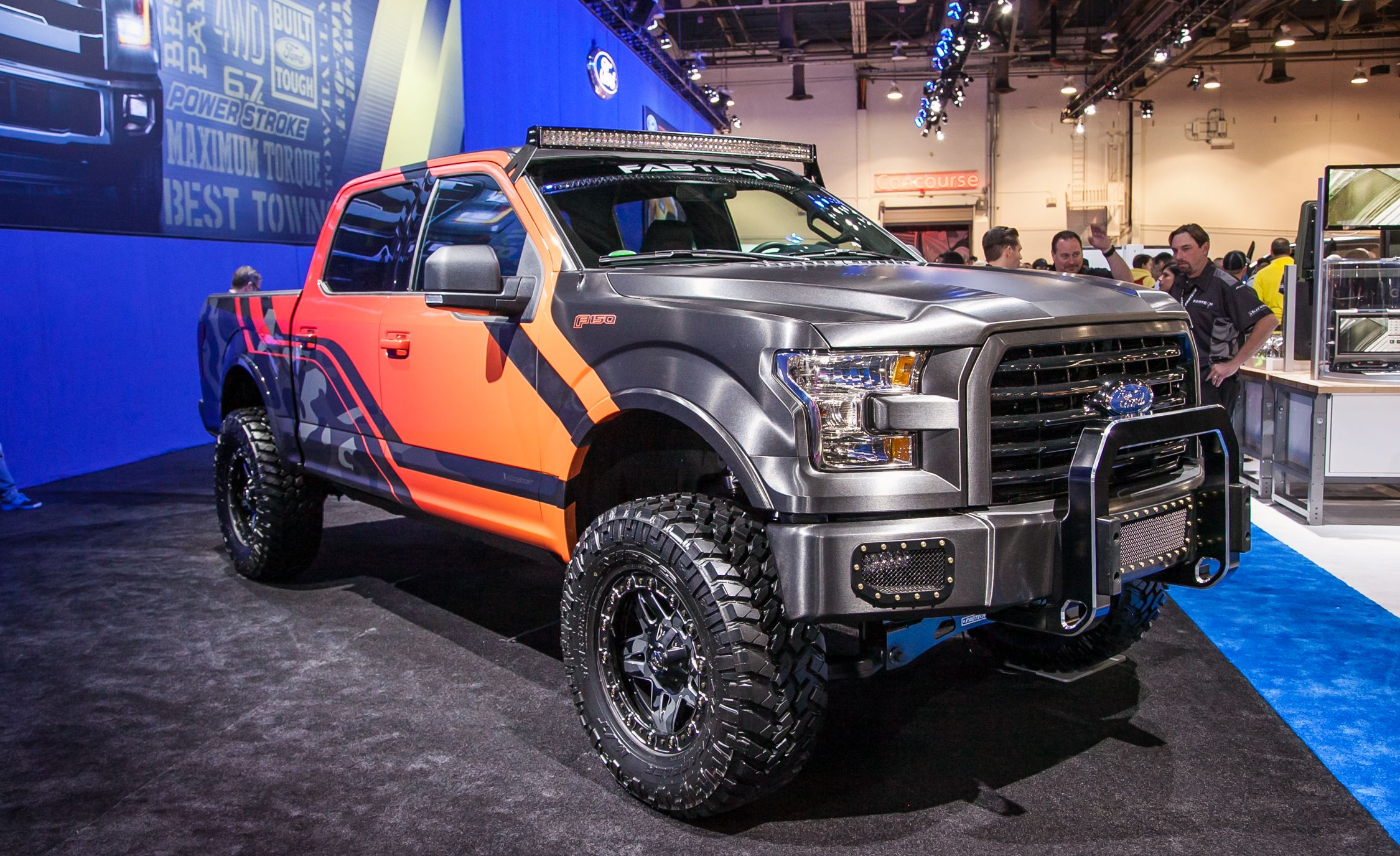150 ford sema cars f150 wrap end trucks driver them caranddriver lifted awesome cool pickup tricked invades offroad gta