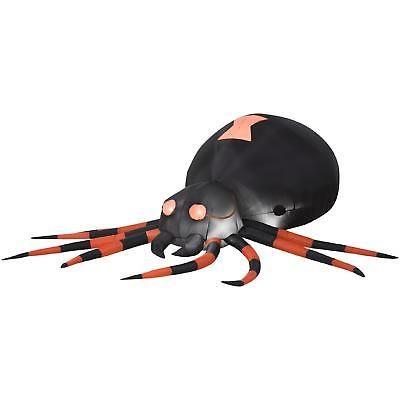 Halloween Decoration Inflatable Black Spider Outdoor Yard Lighted - outdoor inflatable halloween decorations