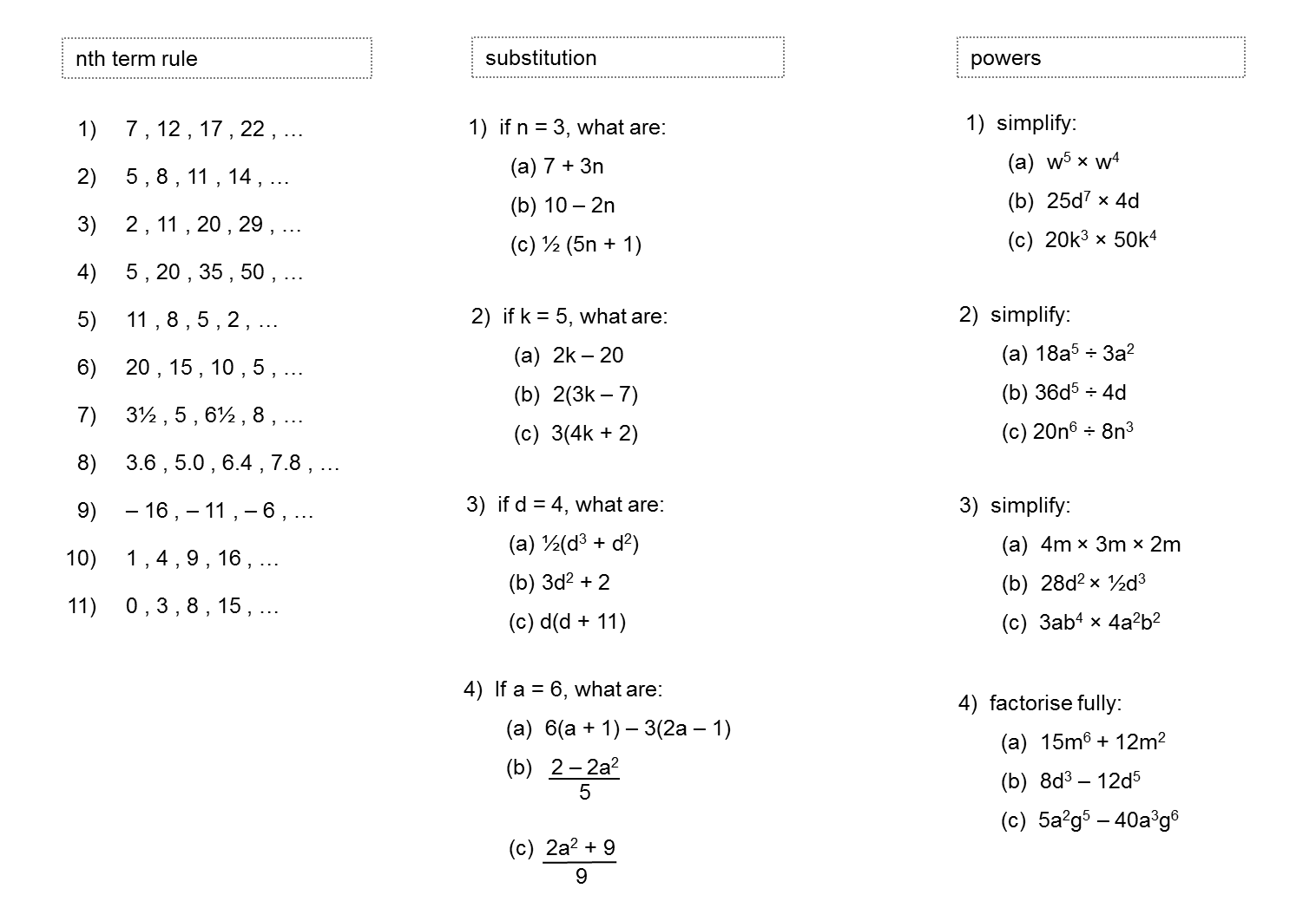Algebra Practice Median Practice And Gcse