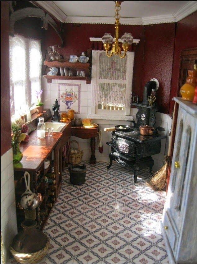 MY WORLD IN MINIATURE: KITCHEN #miniaturekitchen MY WORLD IN MINIATURE: KITCHEN #miniaturerooms
