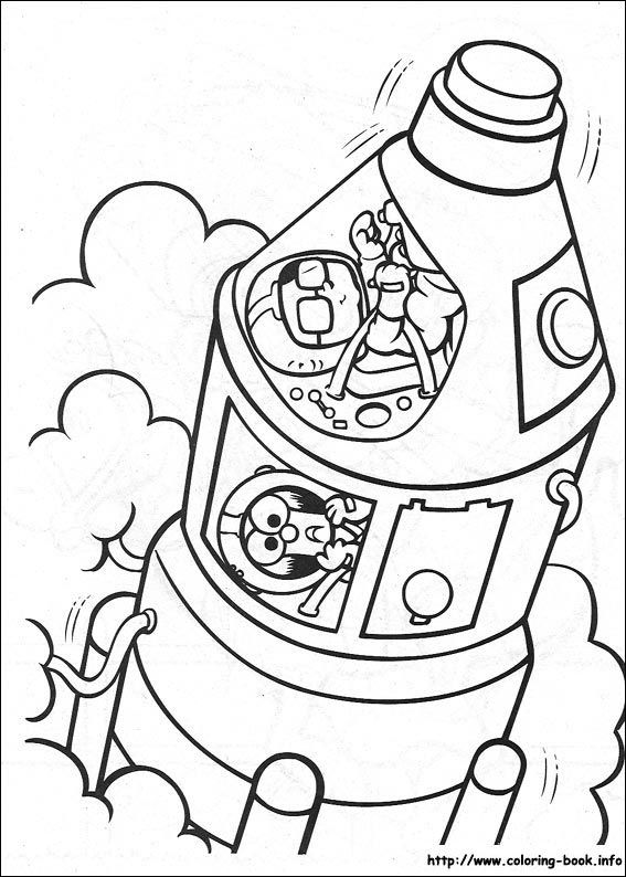 Muppet Babies Coloring Picture Beaker And Bunsen With Images