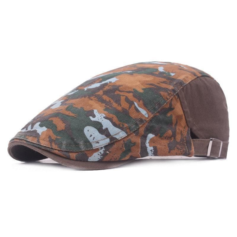 e489ba33f Men Camouflage Graffiti Cotton Beret Cap in 2019 | Products | Beret ...