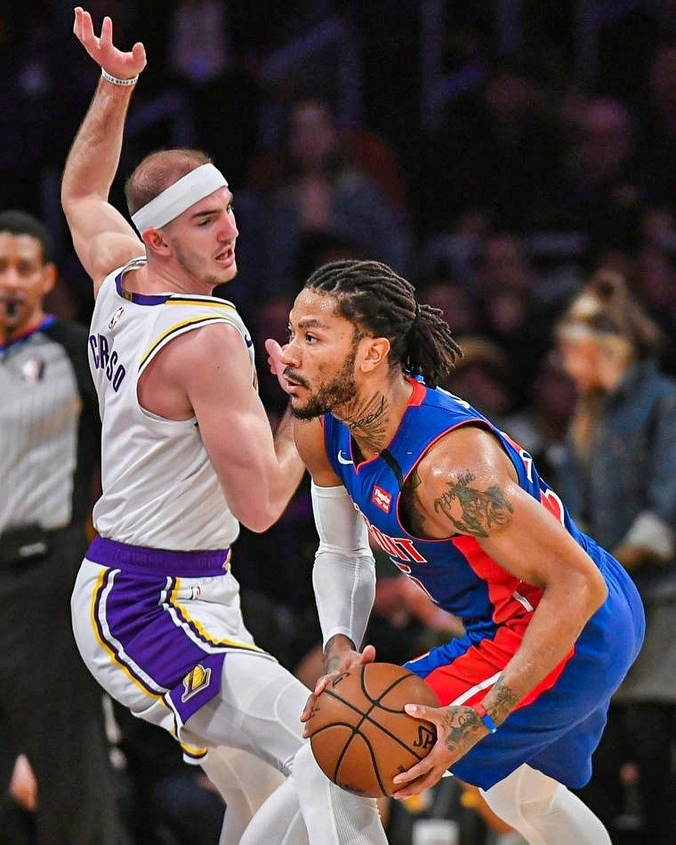 The Lakers Offered The Detroit Pistons A Combination Of Alex Caruso And Draft Compensation For Derrick Rose But The Pistons T In 2020 Detroit Pistons Nba Funny Lakers