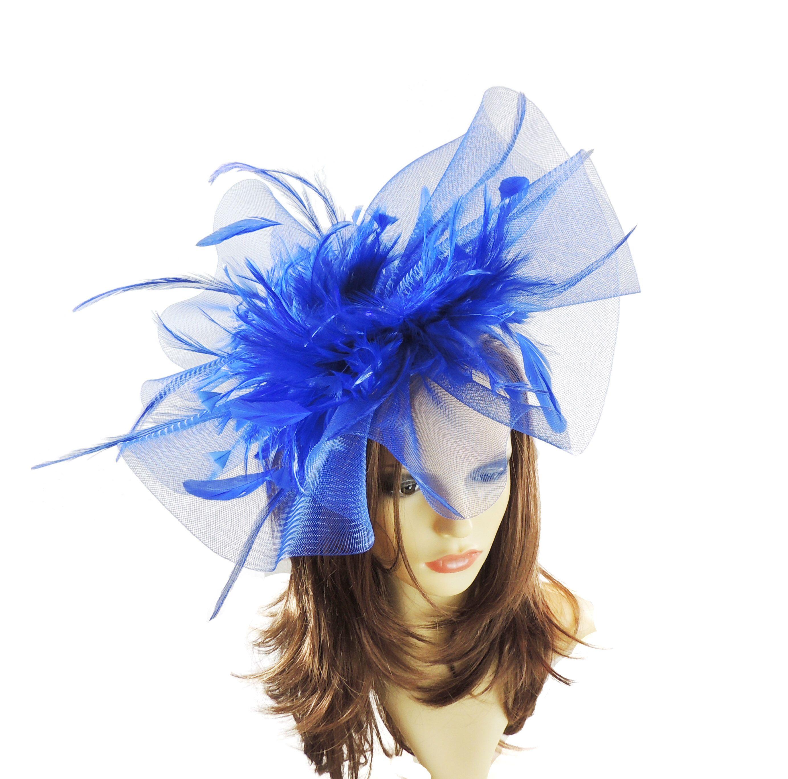 98c25c5f948db Aneta Royal Blue Fascinator Hat for Weddings