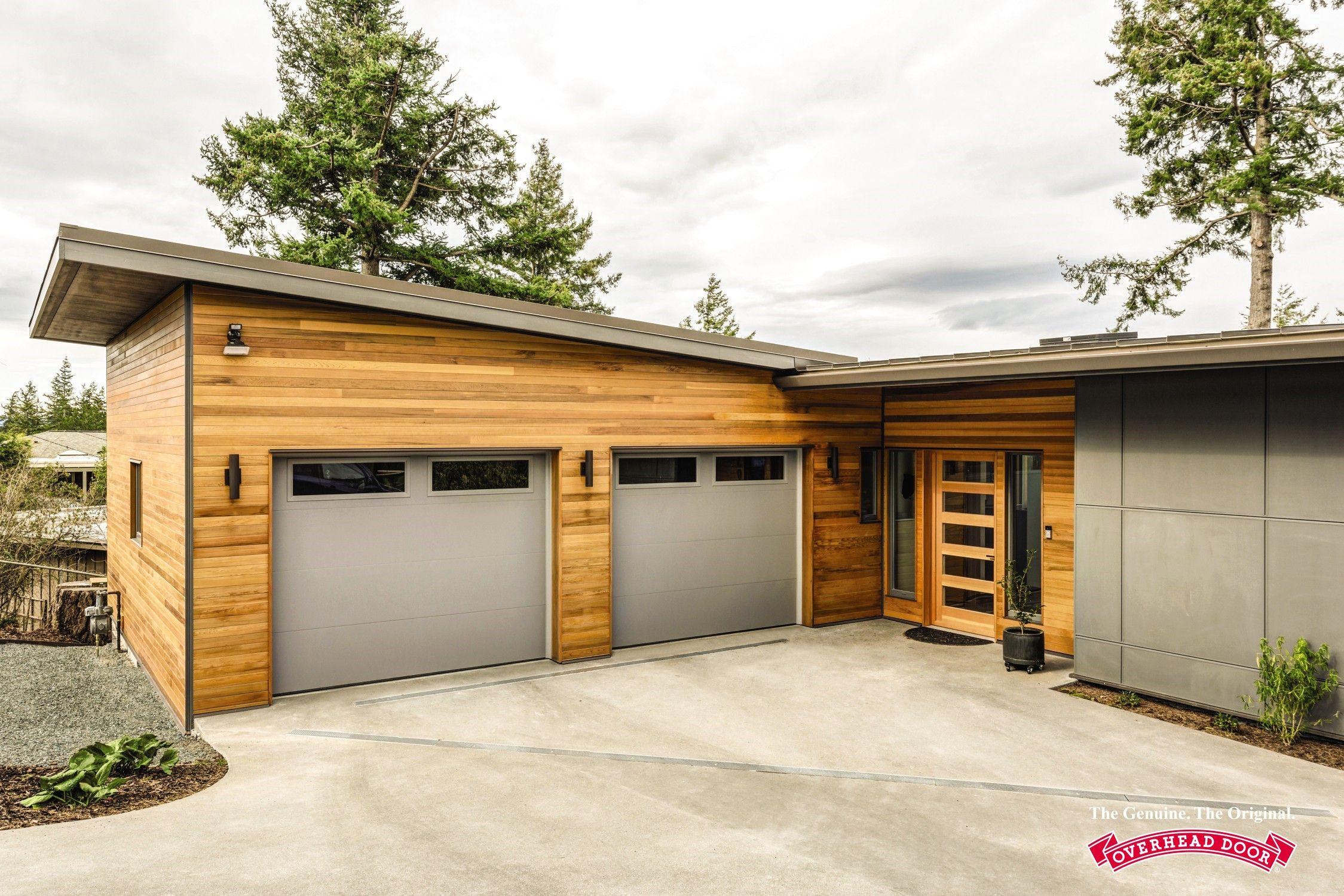 Gray Thermacore Garage Door Garage Doors Garage Door Styles Sectional Garage Doors