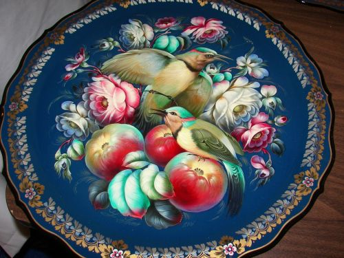 Zhostovo, traditional floral style   , which is near Moscow, Russia