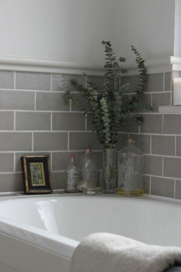 Eukalyptus Aroma Therapie im Bad K24 Pinterest Badezimmer - badezimmer mit grauen fliesen