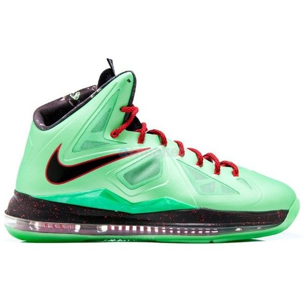 8a2f190c1d5f Nike Lebron X (10) Cutting Jade GS ( 220) ❤ liked on Polyvore ...