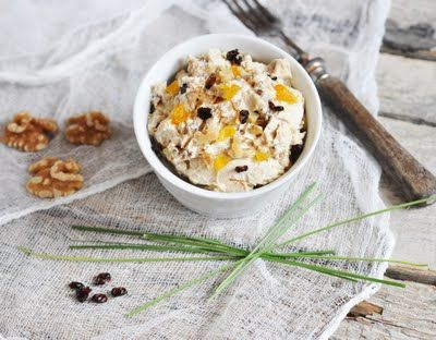 Honeyed Goat Cheese with Dried Fruit and Walnuts