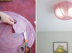 Paper Ceiling Light Covers Diy Flush Mount Light Cover Diy