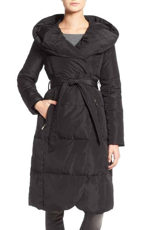 ef1b16f638a Eliza J Belted Down Coat with Hood | Pondering Purchases | Down coat ...