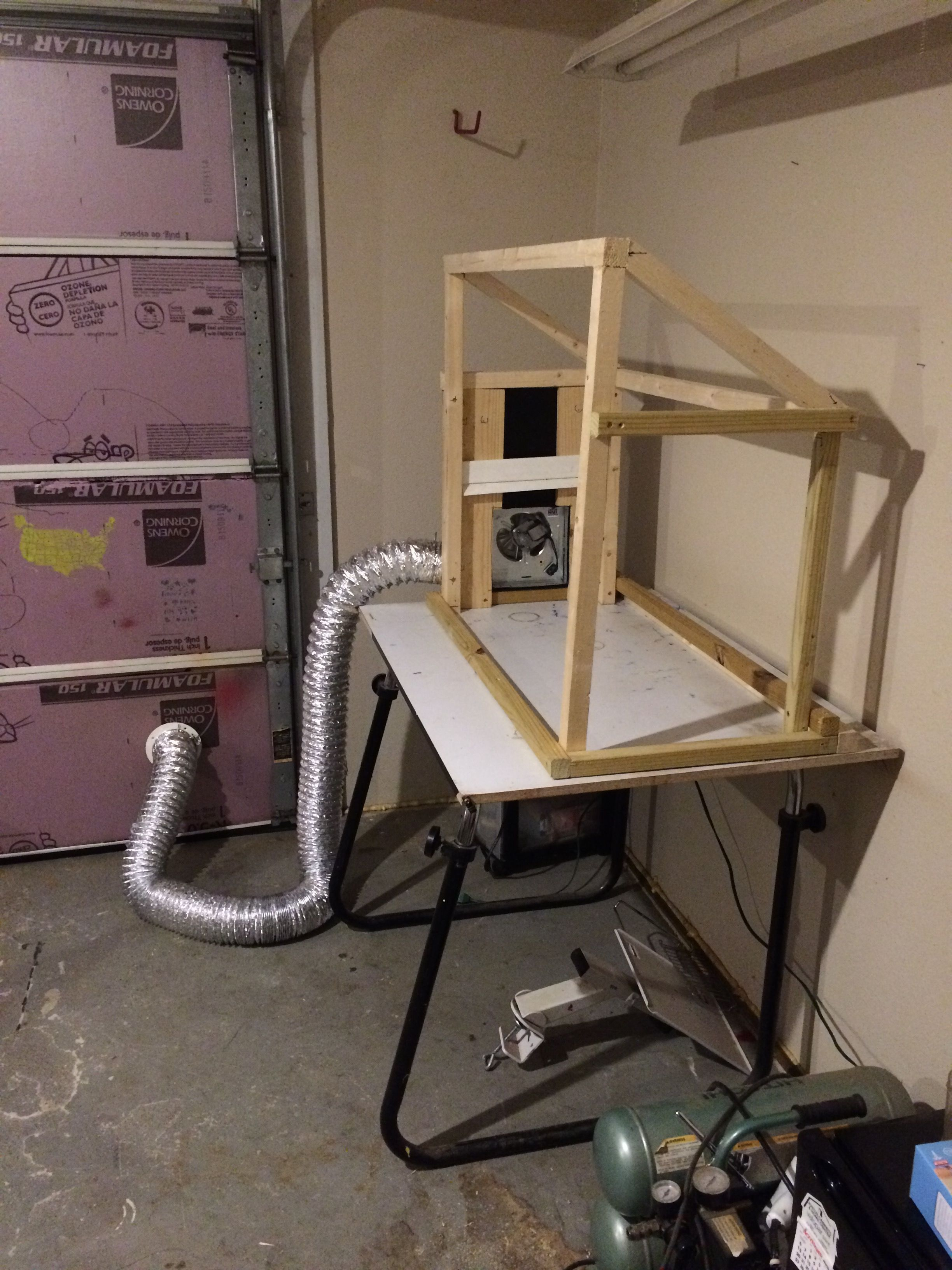 diy paint booth airbrush spray booth