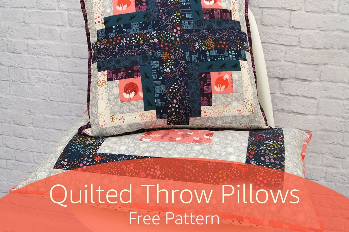 Log Cabin Quilted Throw Pillows Free Pattern Quilted throws Log
