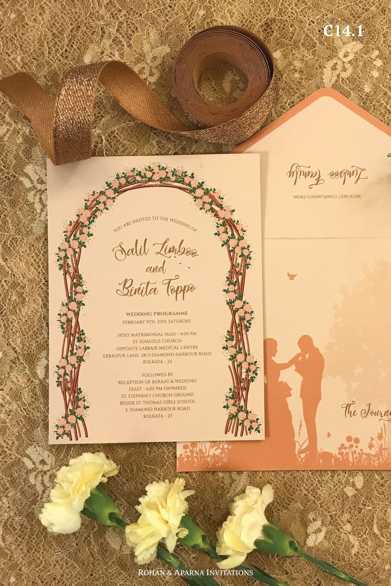 Beautiful Floral Arch Christian Wedding Invitation For More Design Ideas Visit Christian Wedding Invitations Christian Wedding Cards Christian Wedding