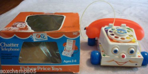 Vintage 1973 Fisher Price Chatter Telephone