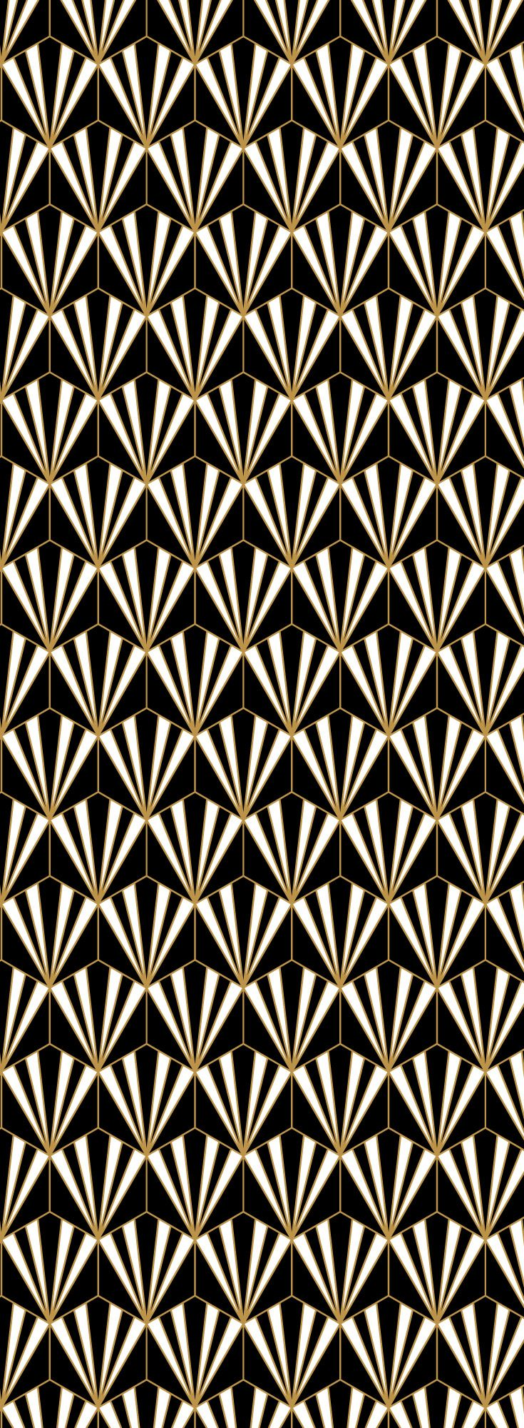 Luxurious Black White And Gold Art Deco Metallic Wallpaper Pattern Gold Art Deco Art Deco Wallpaper Metallic Wallpaper