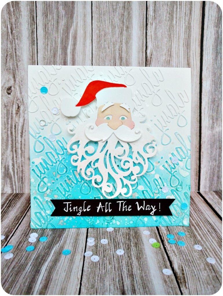 Santa Father Christmas die cutting card