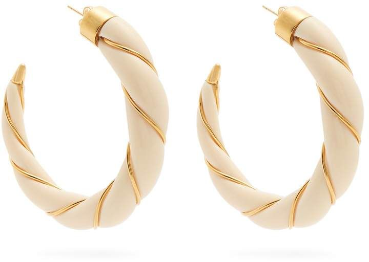 Aurélie Bidermann Diana twisted-effect gold-plated earrings 7zf8XHudq