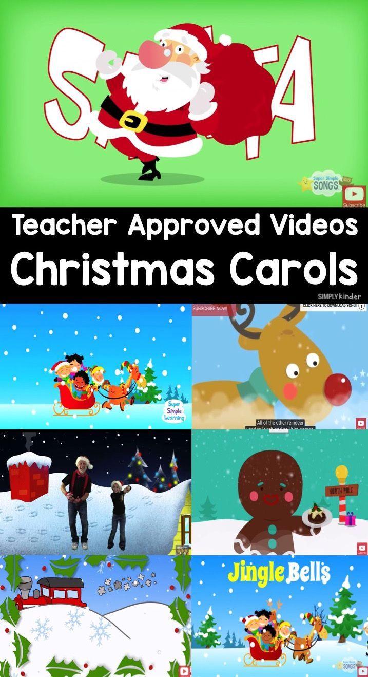 Teacher Approved Christmas Carols Video List Christmas Carols For Kids Christmas Teaching Christmas Kindergarten [ 1318 x 717 Pixel ]