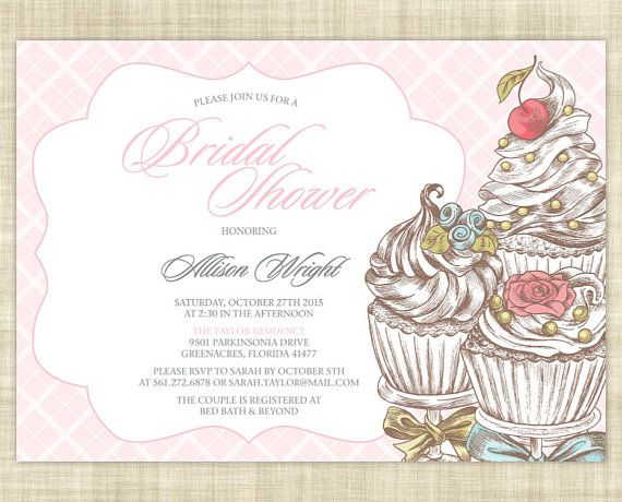 Parisian Bridal Shower Invitation, Printable Bridal Shower Invitation, Brunch Bridal Shower Invitation Template - Sweet Treat French Cupcake