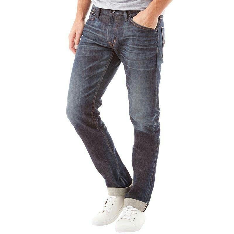 Edwin Mens Sen Japan Black Selvage Skinny Jodhpur Jeans Dark Used