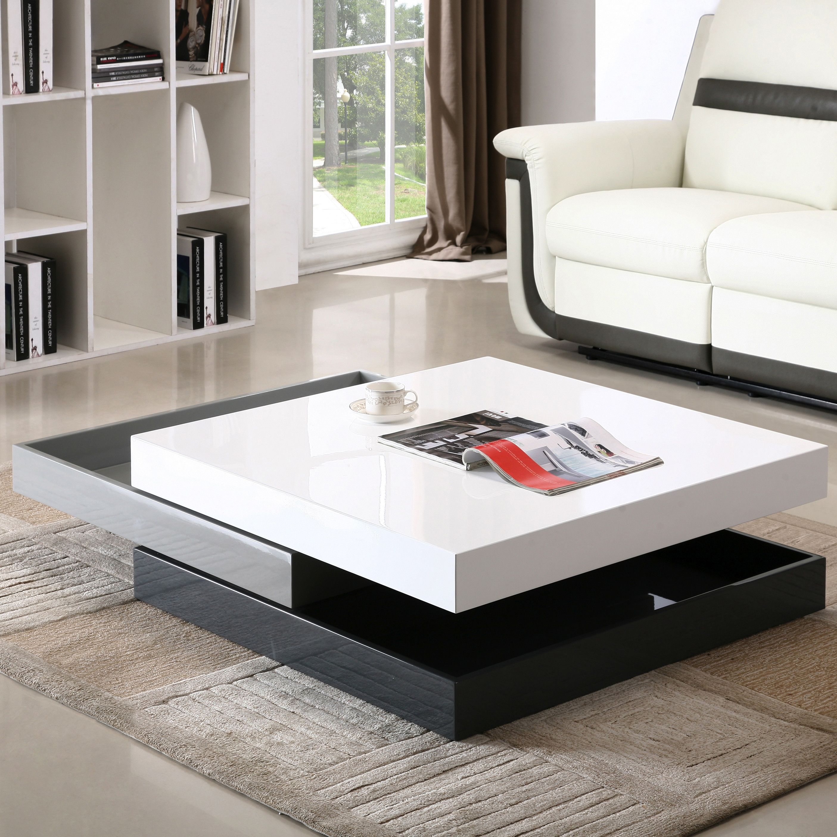 Mcfarland Block Coffee Table With Storage Glass Table Living