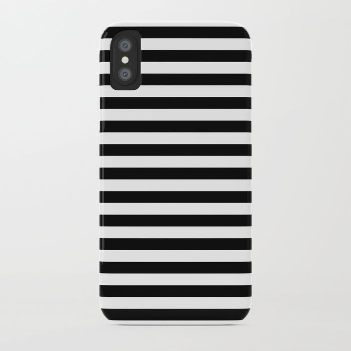 Stripe Black & White Vertical iPhone Case by beautifulhomes | Society6