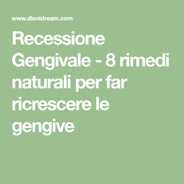 recessione gengivale cure for diabetes