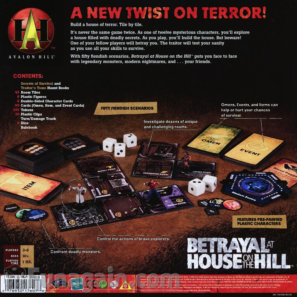 Betrayal at House on the Hill Betrayal, Board games