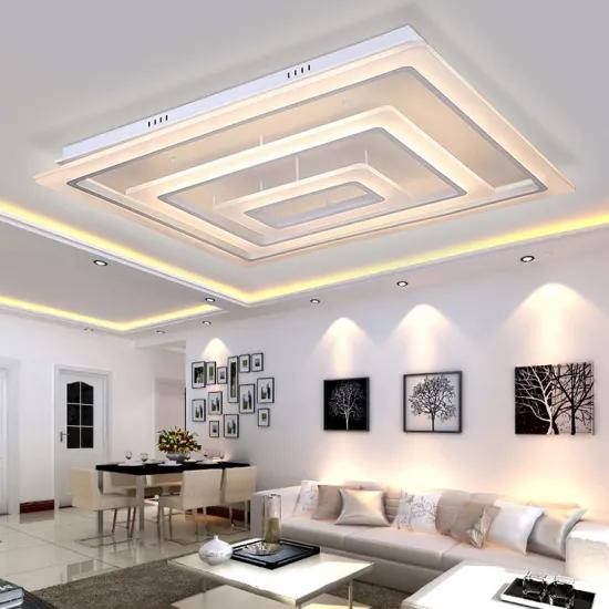 Rectangular Led Ceiling Light For Living Room Modern Lighting For Indoor Decoration China Ce Ceiling Lights Living Room Ceiling Lights Led Ceiling Spotlights
