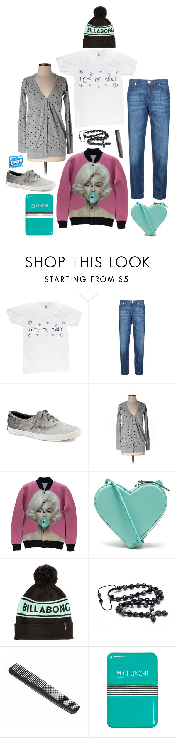 """""""Love me madly"""" by perpetto ❤ liked on Polyvore featuring George J. Love, Keds, Truly Madly Deeply, Christopher Kane, Billabong, Bling Jewelry, Happy Jackson, women's clothing, women and female"""