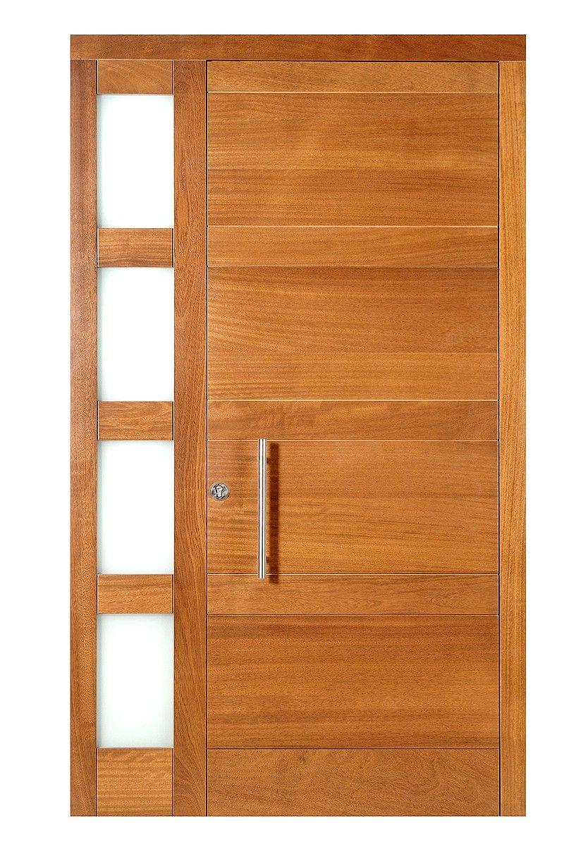 Puerta exterior sencilla puertas pinterest puertas for Puertas principales modernas de madera