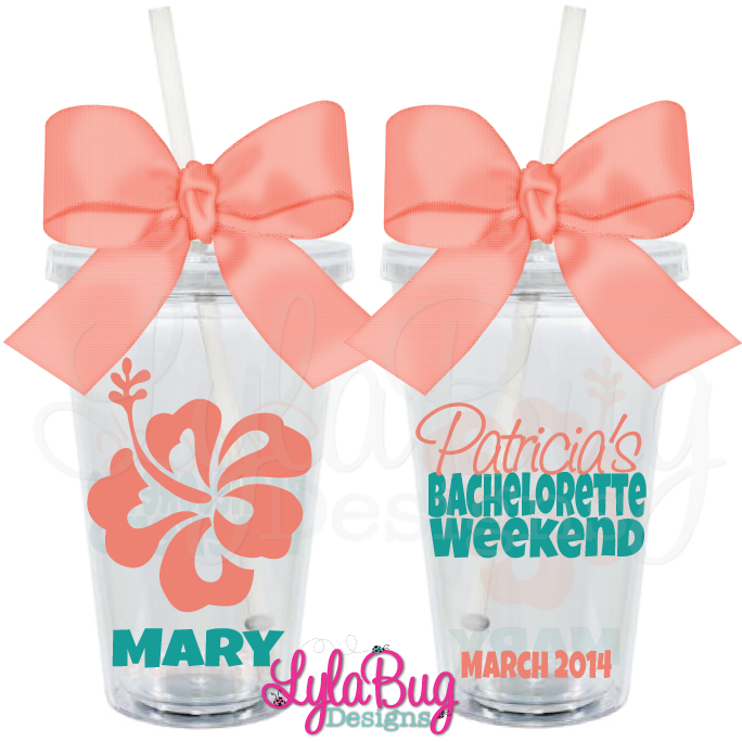 Hibiscus Bachelorette Tumbler 1: LylaBug Designs Bachelorette Party Favors, Bachelorette Party, Bachelorette Party Cups, Bachelorette Getaway, Bachelorette Weekend