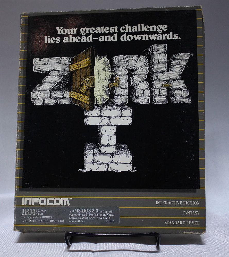 Zork I Pc Game Ibm Ms Dos 2 0 Original 5 25 Floppy Disc