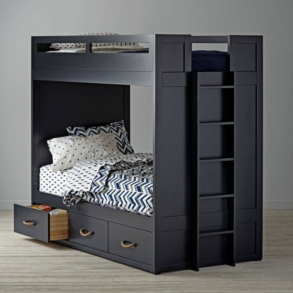 Shop topside midnight blue bunk bed what do you do when youre in need of a bunk bed but you also want some roomy drawers for additional storage