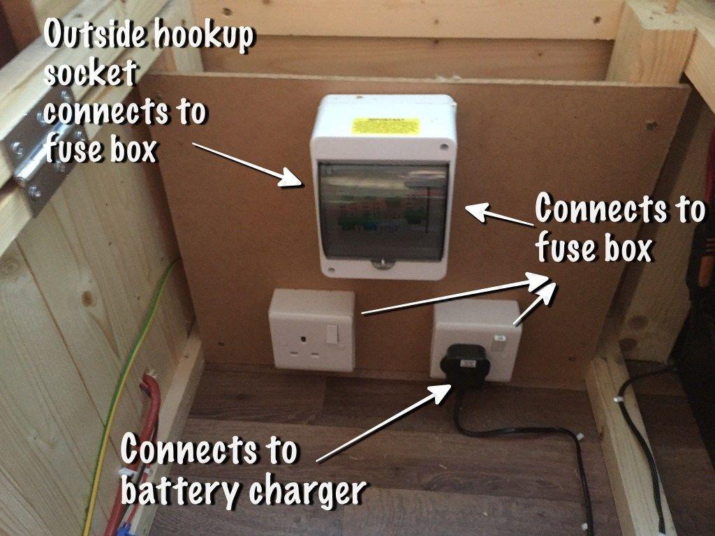 Diagram Installing The 12v Electrics In My Van Conversion